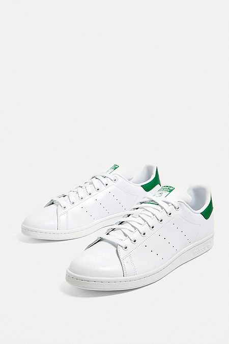 buy popular 9d9e1 93efe adidas Stan Smith White and Green Trainers