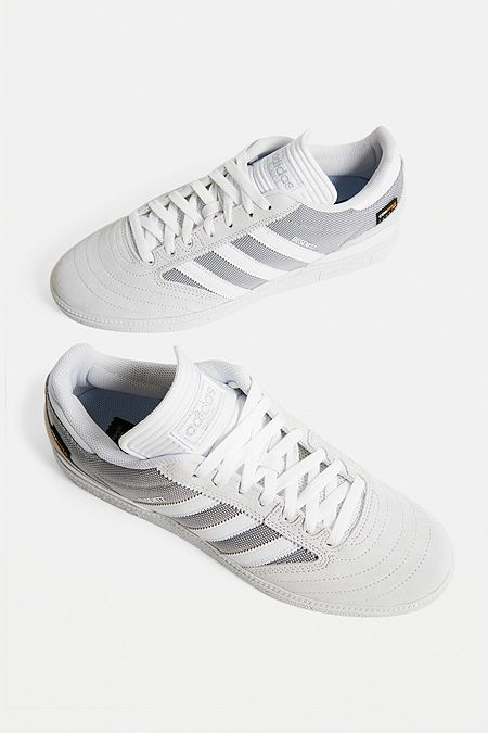 promo code ca6ab cccd1 adidas Busenitz White Trainers