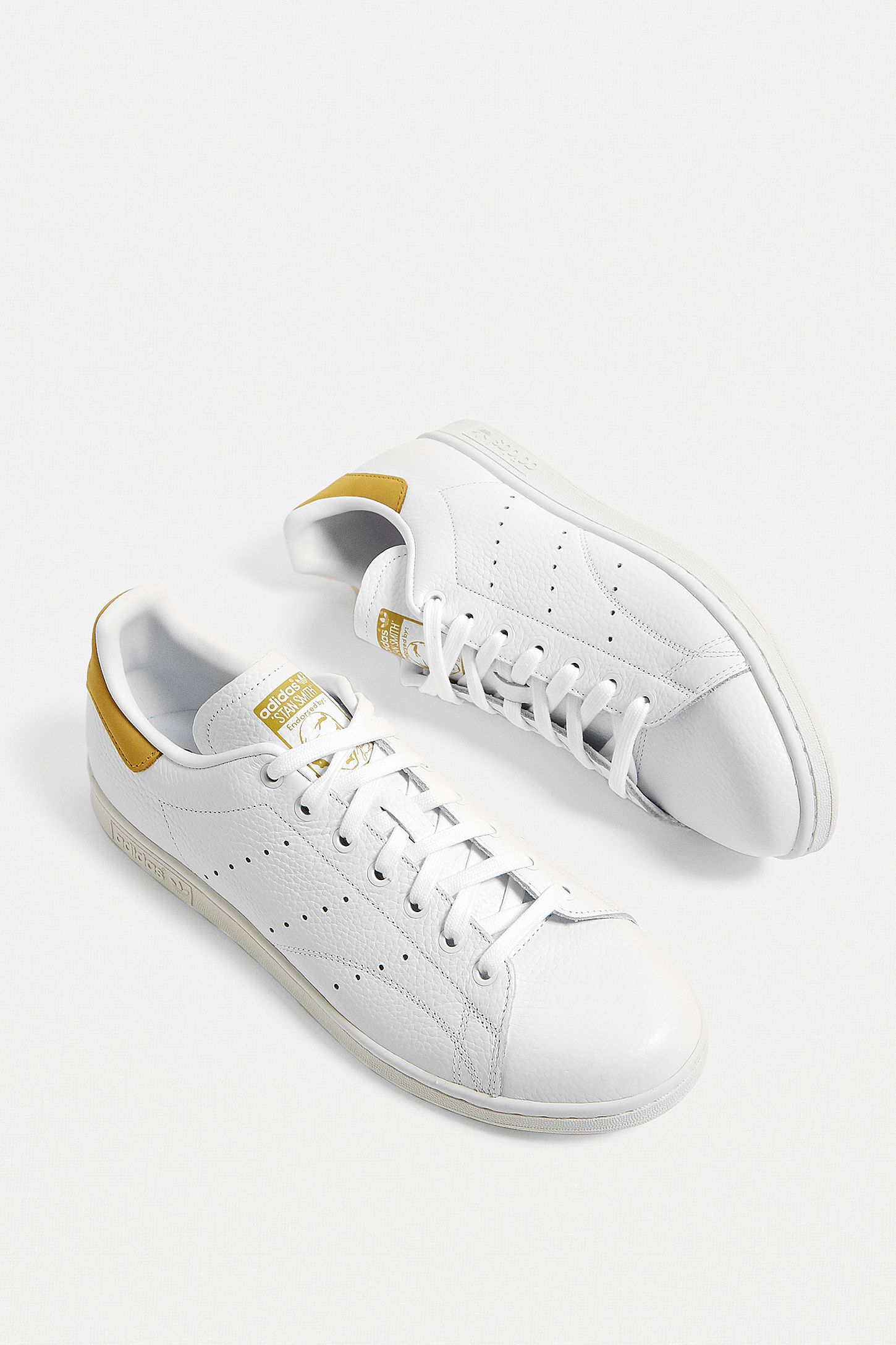 meilleur service 35b66 9366b adidas Stan Smith White and Yellow Trainers