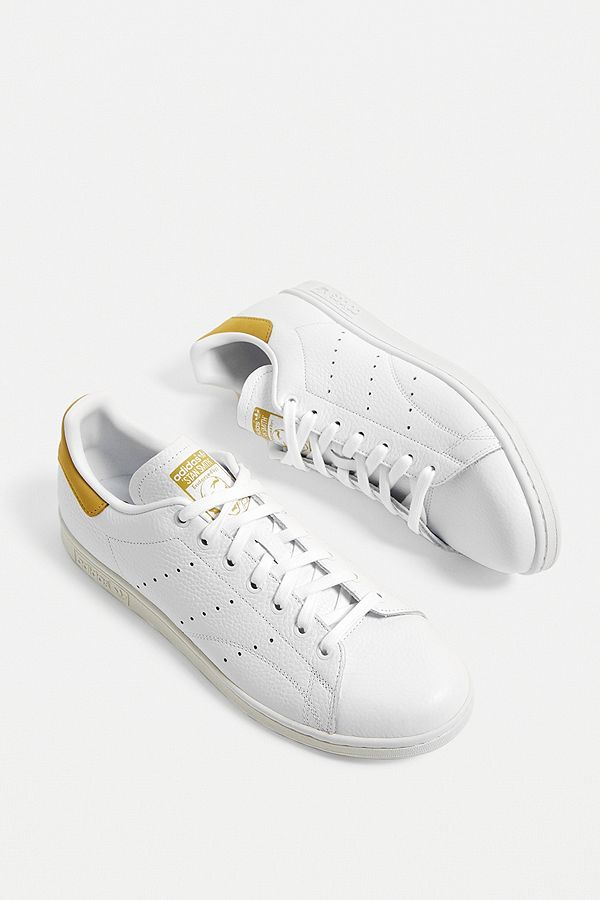 meilleur service cd97d 9b5ef adidas Stan Smith White and Yellow Trainers