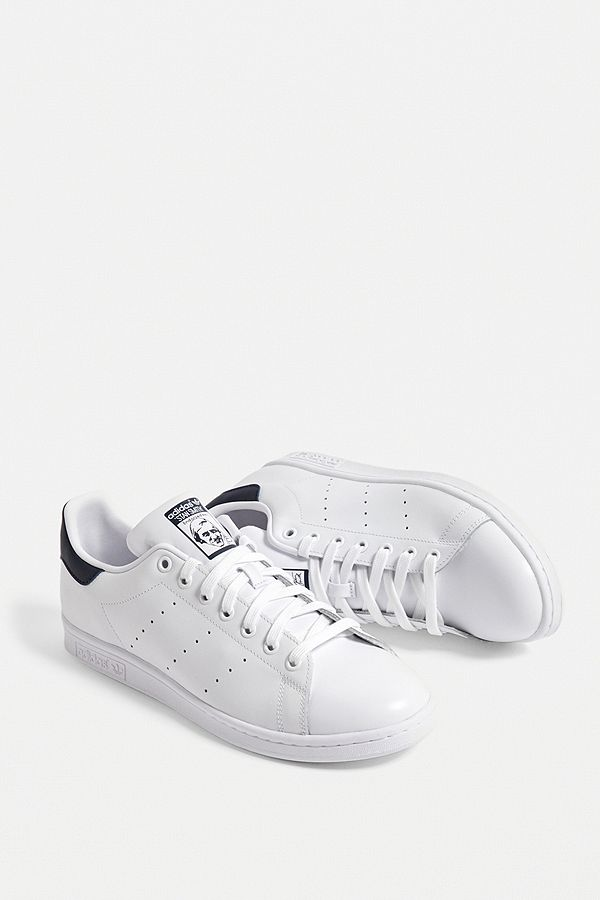 adidas Stan Smith White and Blue Trainers
