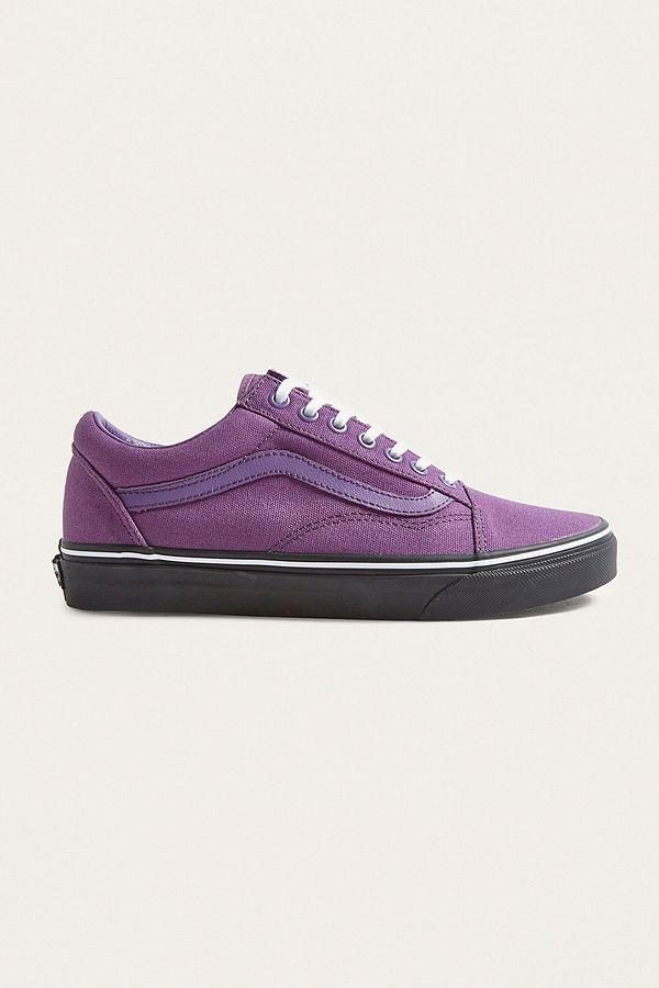 ba4ba6cf254 Vans Old Skool Purple and Black Sole Trainers