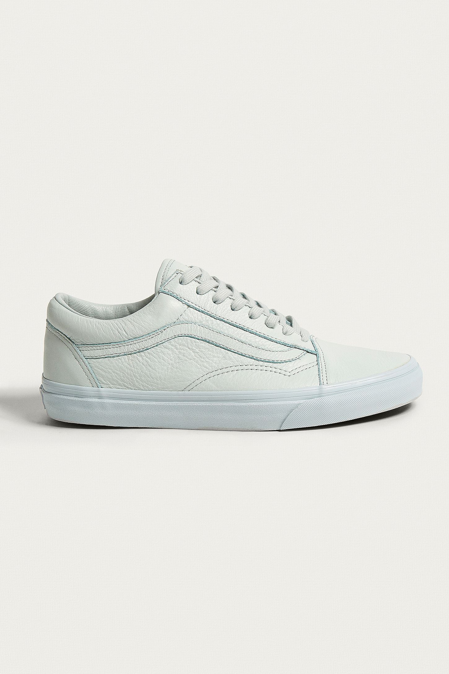 05ae08b5047d Vans Old Skool White Leather Trainers. Click on image to zoom. Hover to  zoom. Double Tap to Zoom