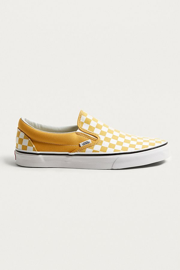 Vans Classic Yellow Checkerboard Slip-On Trainers