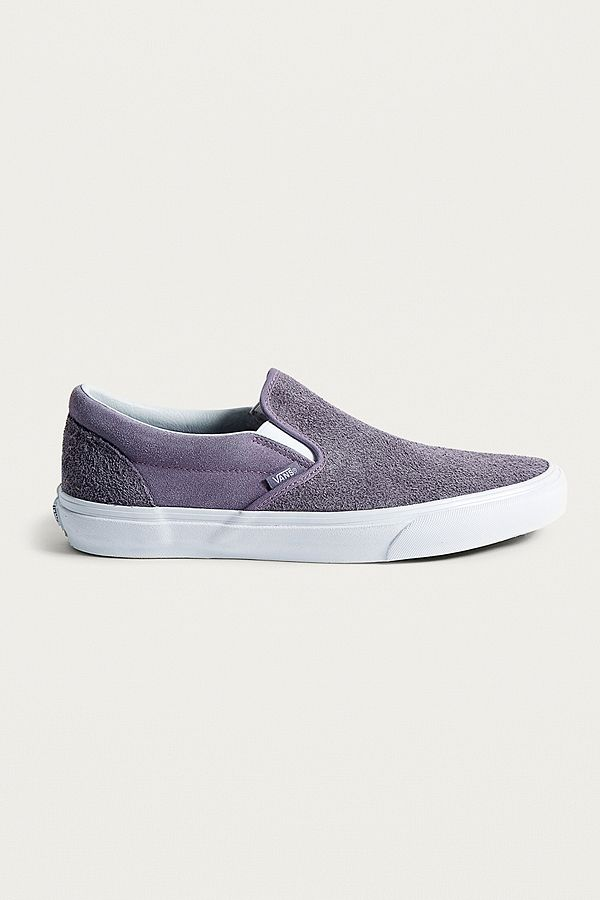 470023f89057 Vans Hairy Suede Classic Slip-On Purple Trainers