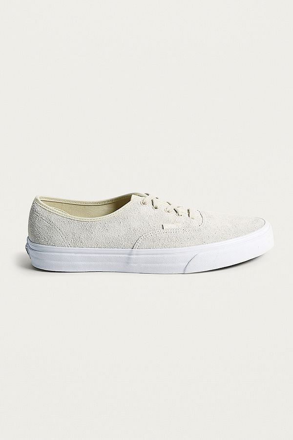 844e60c1b937 Vans Authentic White Hairy Suede Trainers