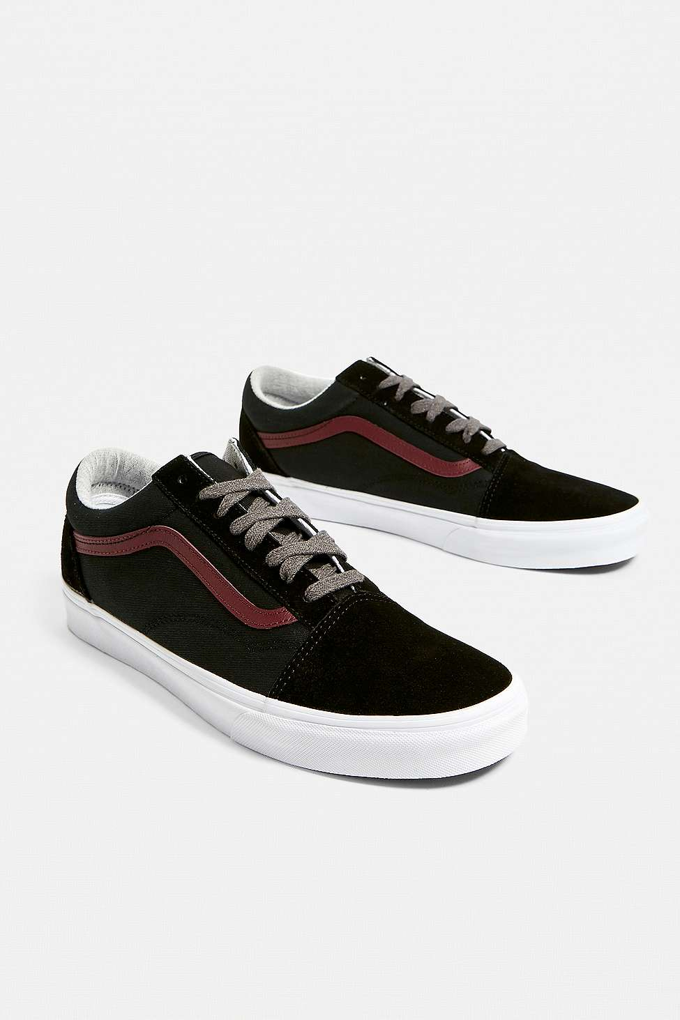 Vans Old Skool Black And Port Trainers Urban Outfitters Uk