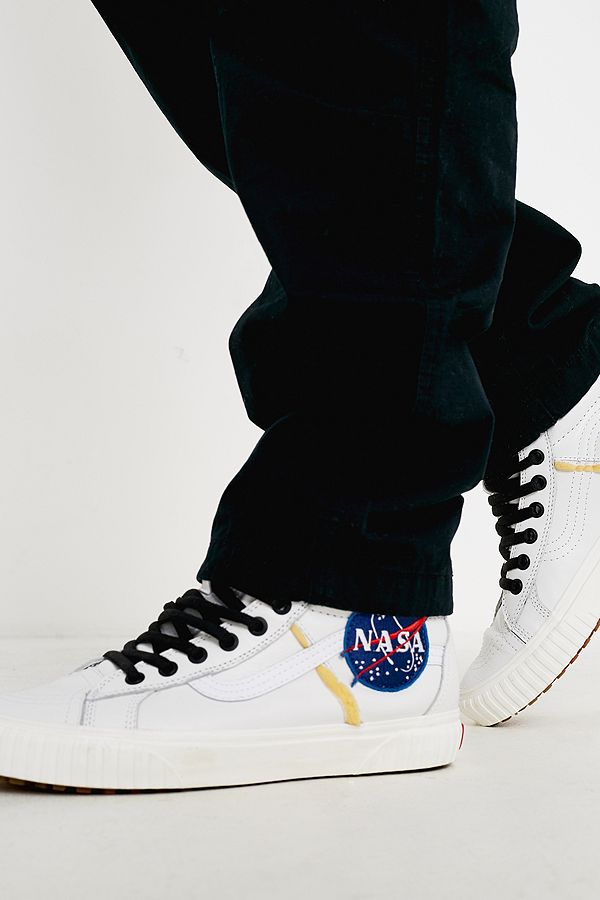 Vans Space Voyager Sk8-Hi NASA White Trainers