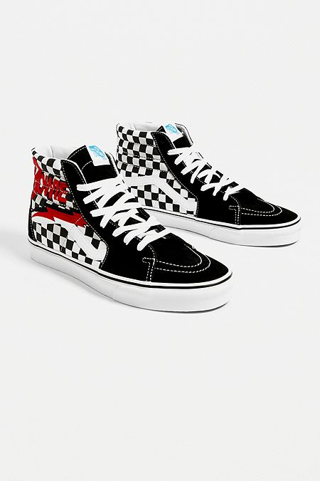 7d2823972d867a Vans X David Bowie Sk8-Hi Black Trainers
