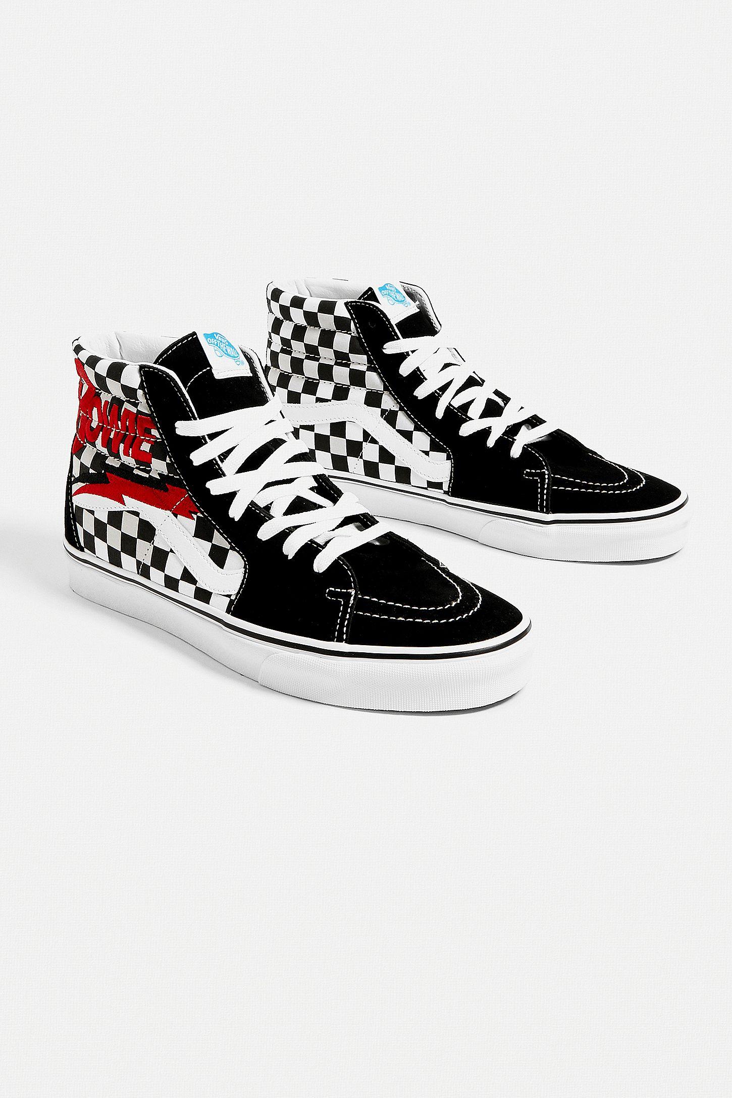 """Vans X David Bowie – Sneaker """"Sk8 Hi"""" in Schwarz"""