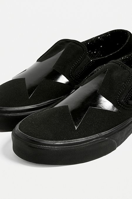 bcbf0bf6a51db1 Vans X David Bowie Classic Blackstar Black Slip-On Trainers