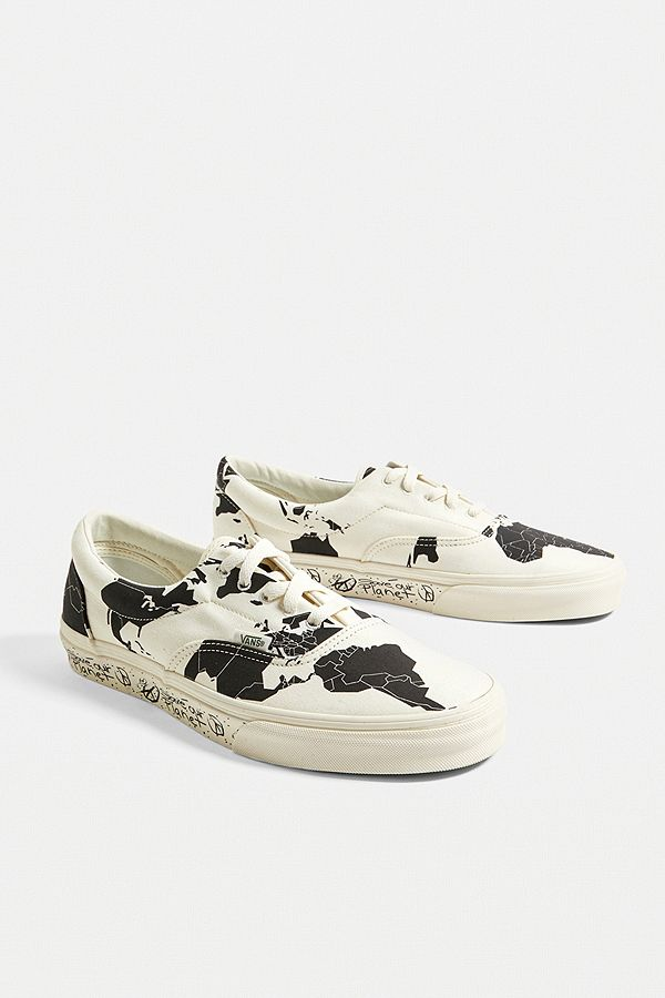 cute cheap top brands cheap prices Vans Save Our Planet X Era Classic White and Black Trainers ...