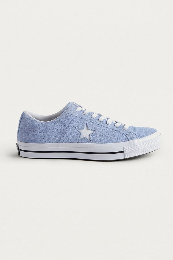 0136f69ef665 Converse One Star Blue Chill Suede Trainers