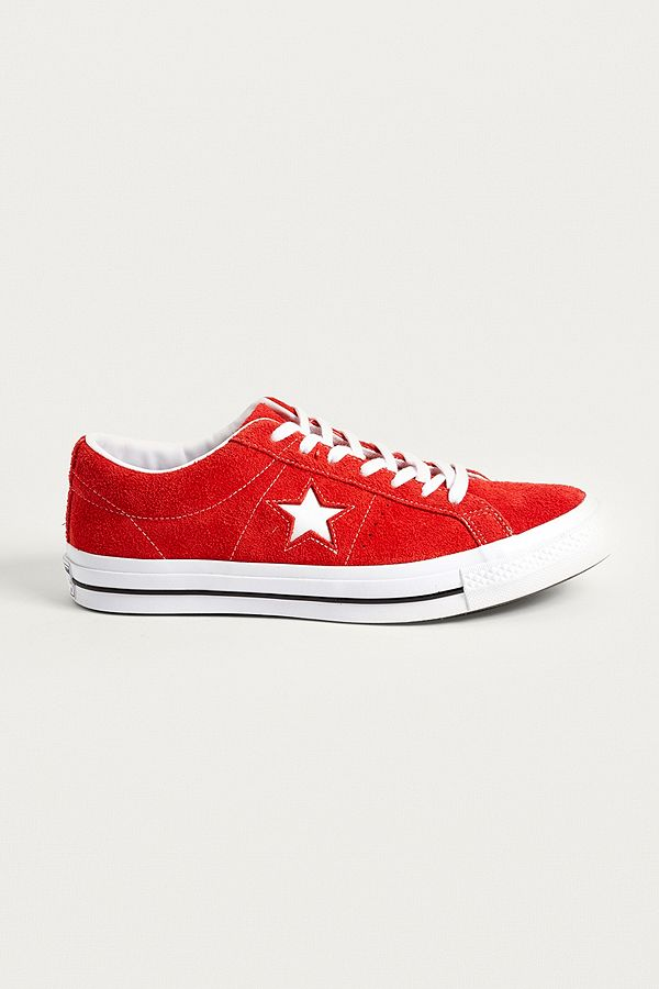 Star En Baskets One Converse Daim Rouge WD2HE9IY