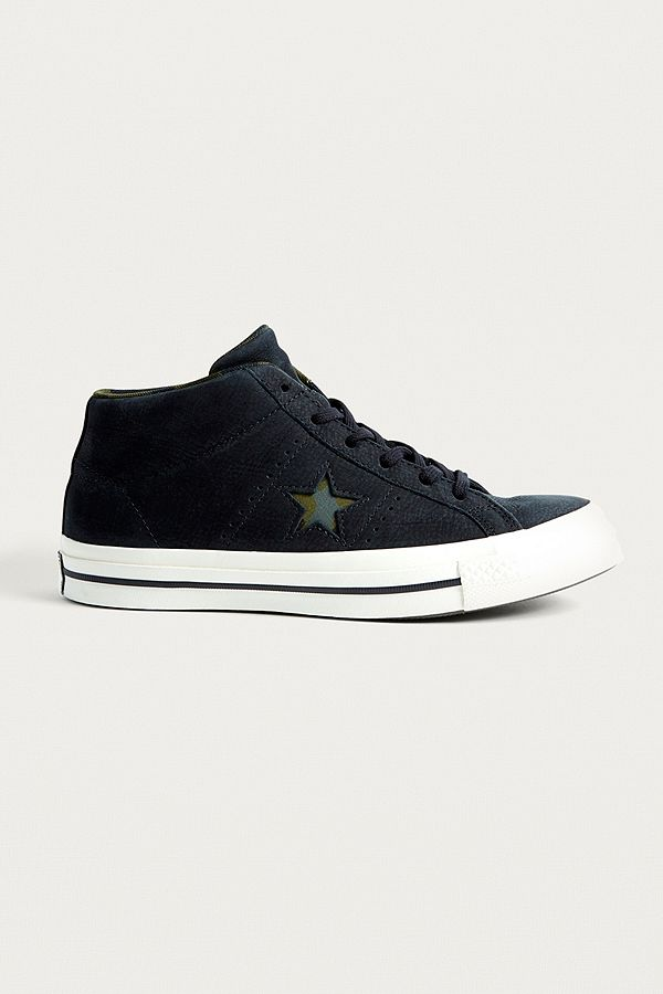 84d0b048ec5 Converse - Baskets mi-hautes One Star en daim noir
