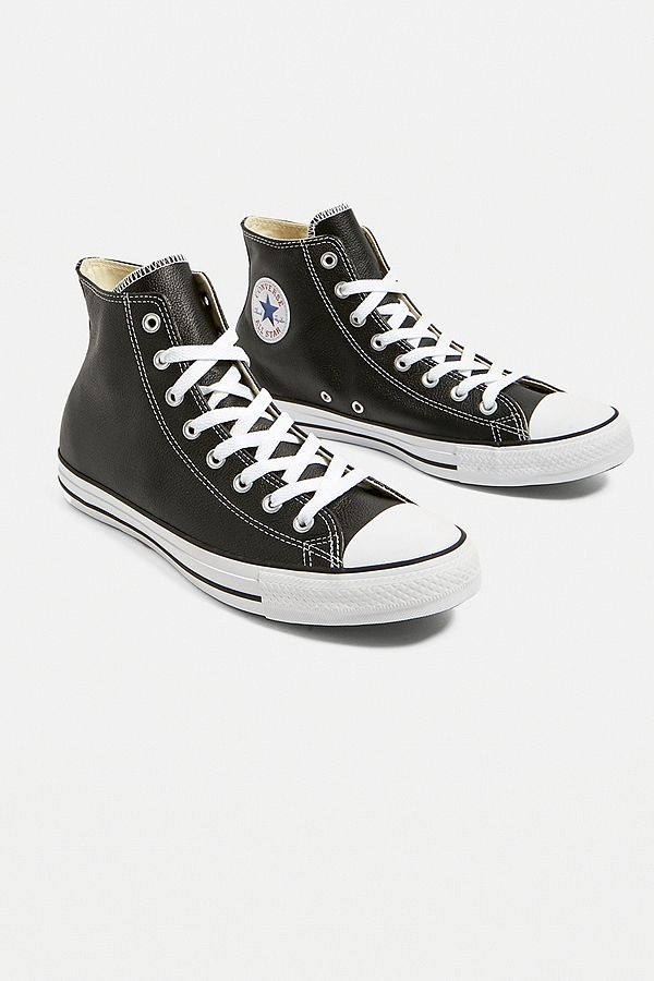 3557d4f0ef6a Slide View  1  Converse All Star Chuck Taylor Black Leather Trainers