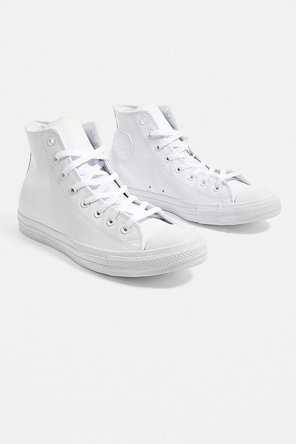d5519493b751 Converse All Star Chuck Taylor White Leather Trainers