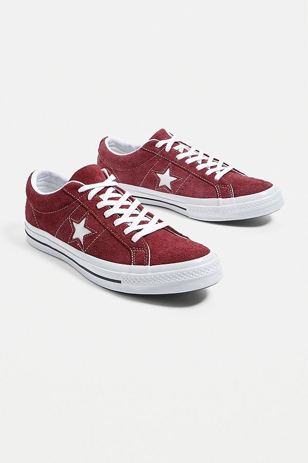 Converse One Star Core Bordeaux Suede Trainers