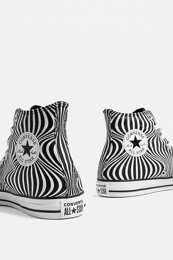 Converse Chuck Taylor All Star Black and White Moonshot High Top Trainers