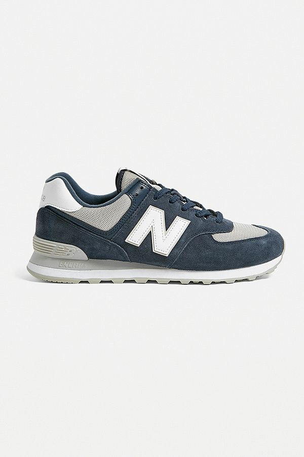 d551a0fa0164d4 Slide View  2  New Balance ML574 Navy Trainers