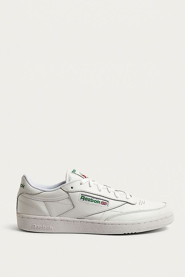 a0f559d44e08d Slide View  1  Reebok Club C White and Green Trainers