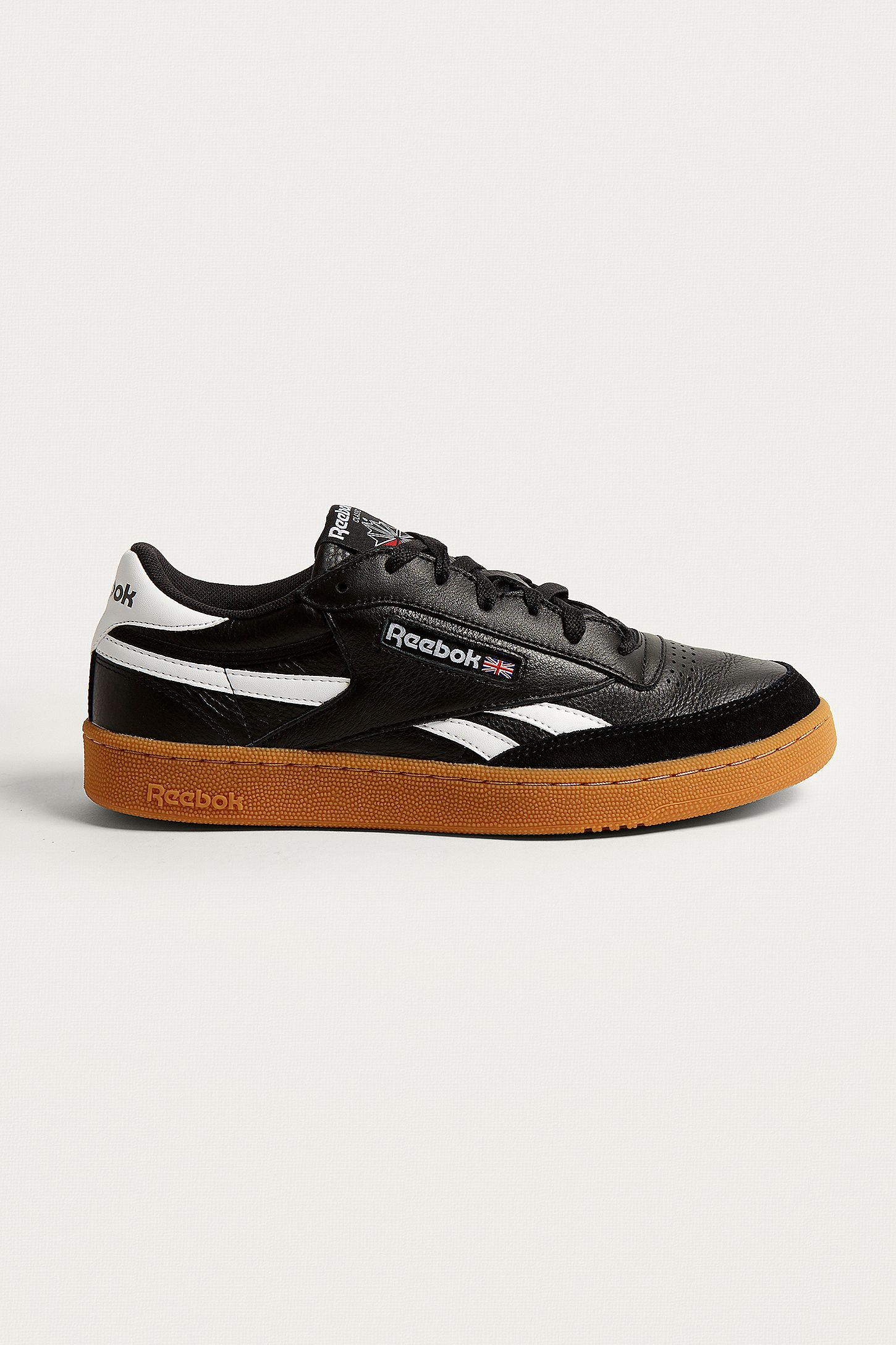 743cf493b93 Reebok Revenge Plus Black Gum Sole Trainers