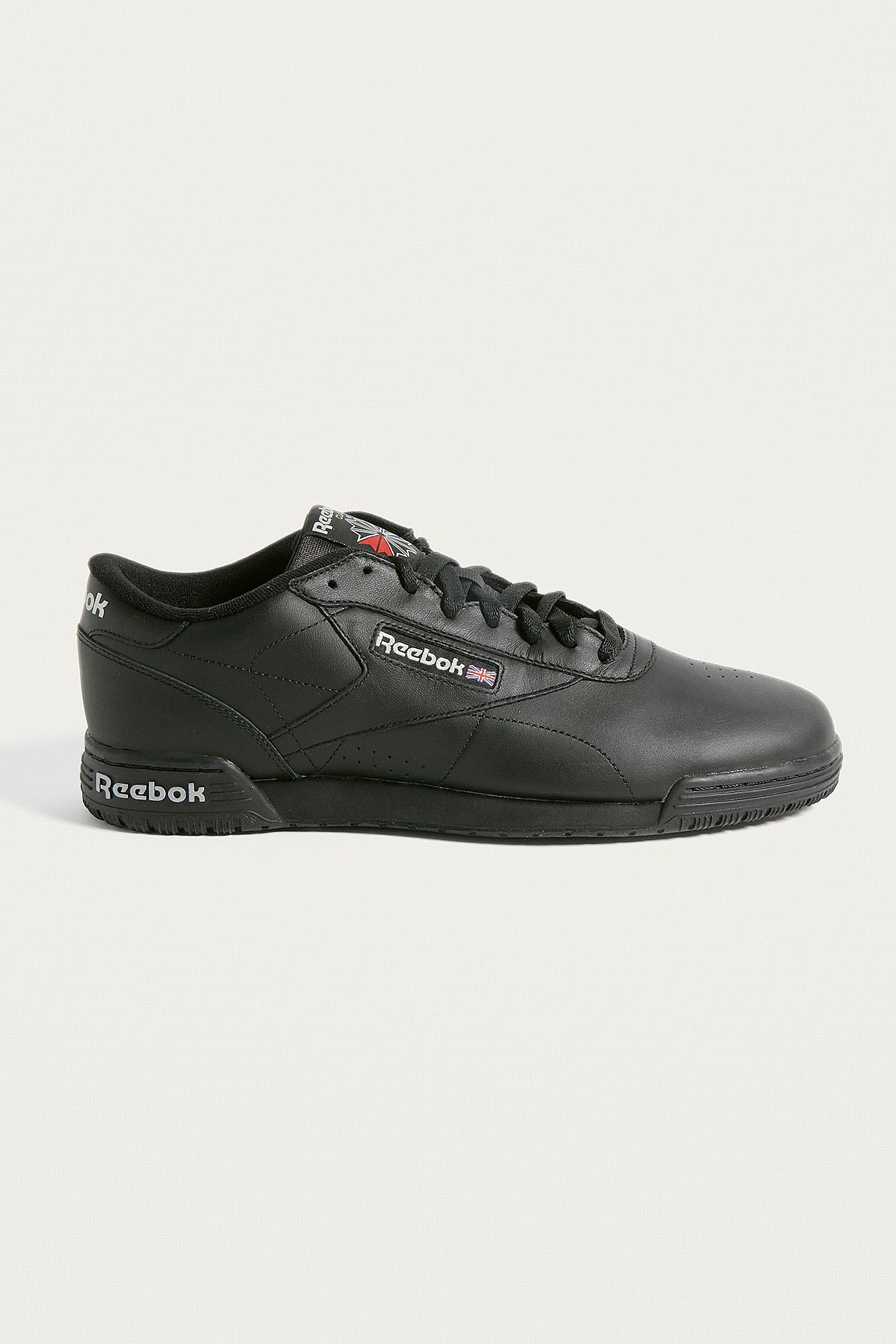 2beb5e05c5b3 Reebok Ex-O-Fit Lo Clean Logo Black Trainers