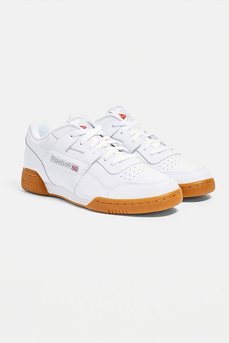 136764e30bd Reebok Workout Plus White Trainers