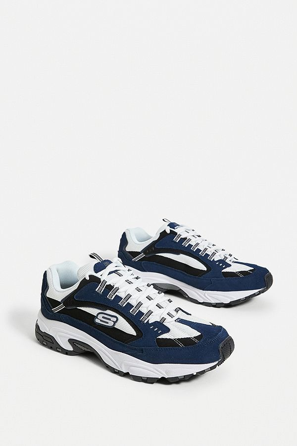 Skechers Baskets bleues Stamina Cutback