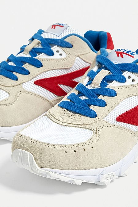 74888ded5d Hi-Tec Shadow TL Ivory and Red Trainers