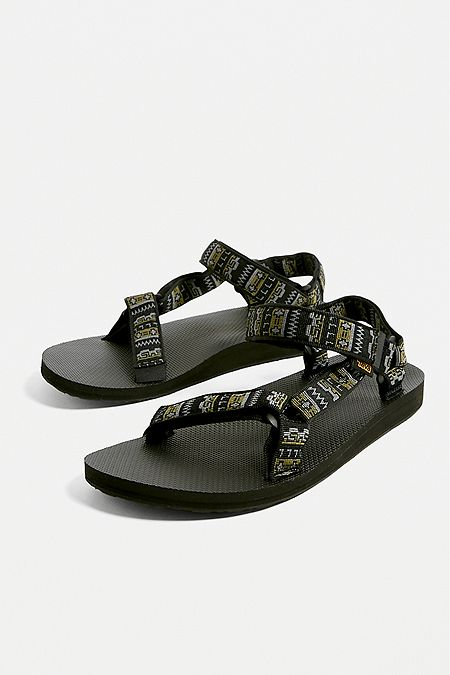 a923d71e5f24 Teva Original Universal Black Geo Print Sandals. Quick Shop