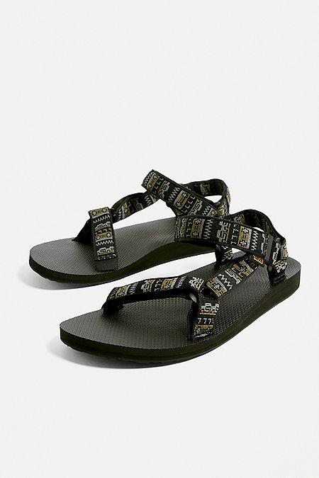7e554c4499e2 Teva Original Universal Black Geo Print Sandals