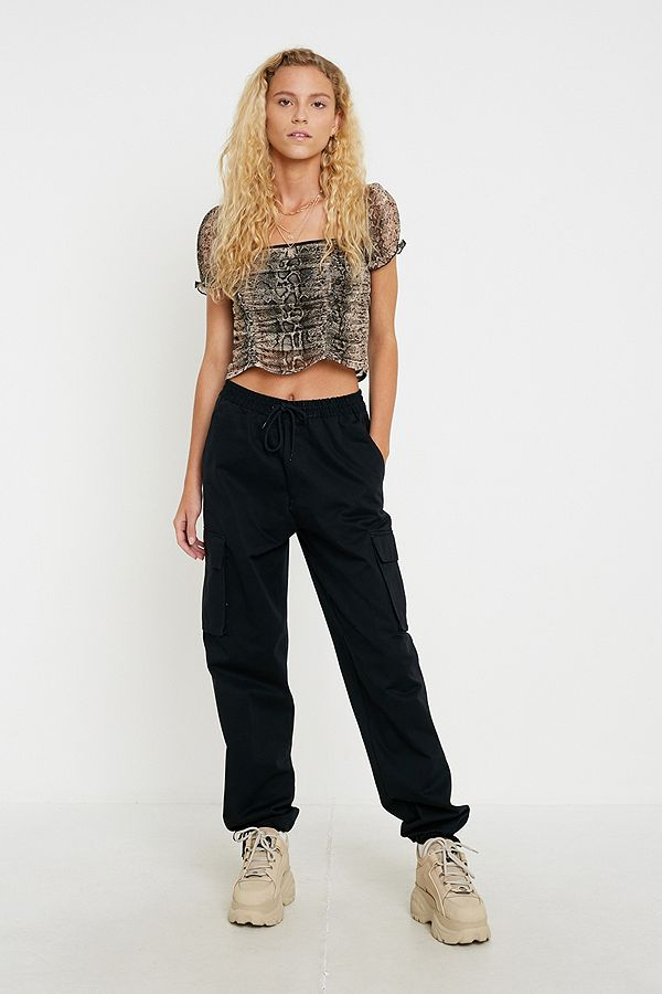 Slide View: 1: Urban Renewal Salvaged Deadstock Drawstring Cargo Trousers