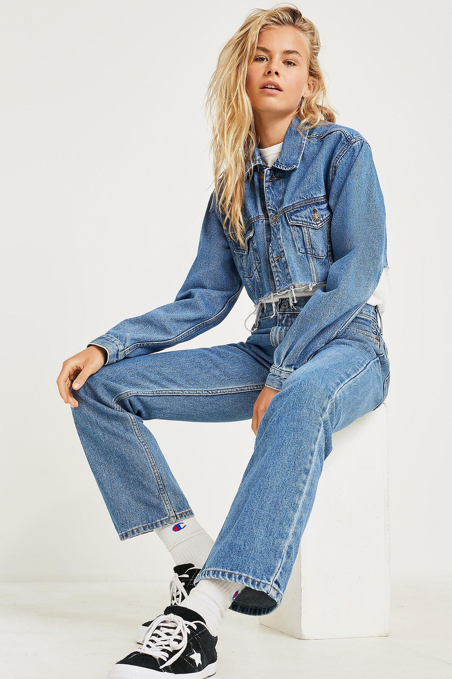4b76ce0b Urban Renewal Vintage Levi's Light + Mid-Wash Jeans | Urban ...