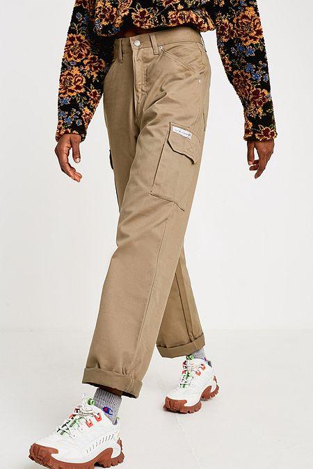 Urban Renewal Vintage - Pantalon cargo tabac style fonctionnel a370ff7e6bb