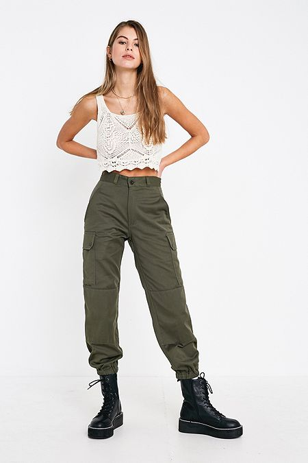 67ff4a69515 Urban Renewal Vintage Olive French Trousers