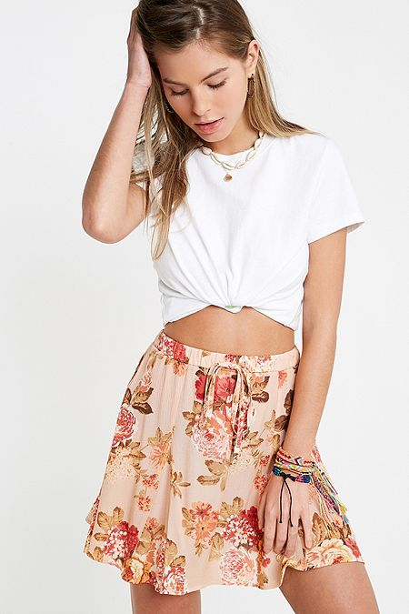 9978ce3a5732 Urban Renewal Remnants Tia Rose Godet Skirt