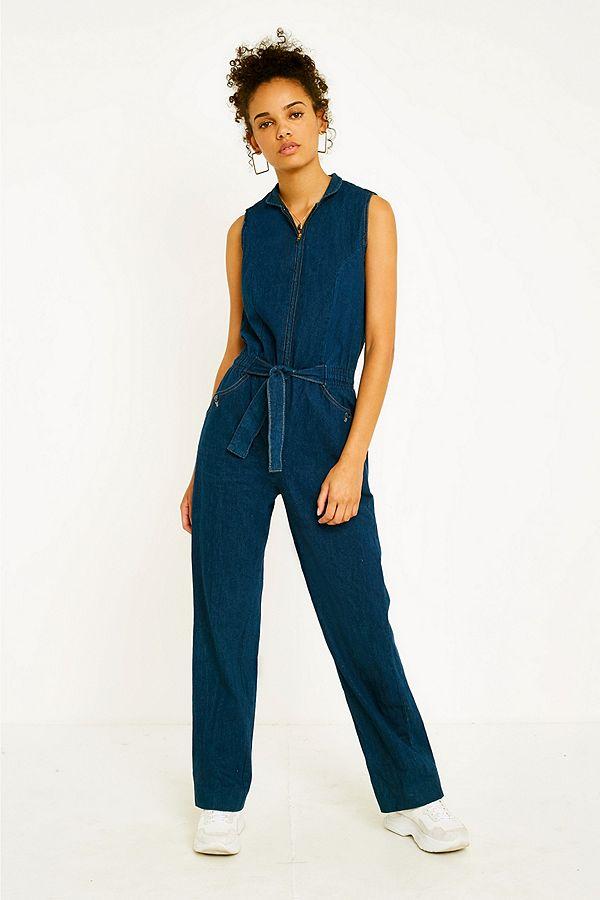 1bbc6c395e5 Urban Renewal Vintage One-of-a-Kind  70s Sleeveless Denim Jumpsuit ...