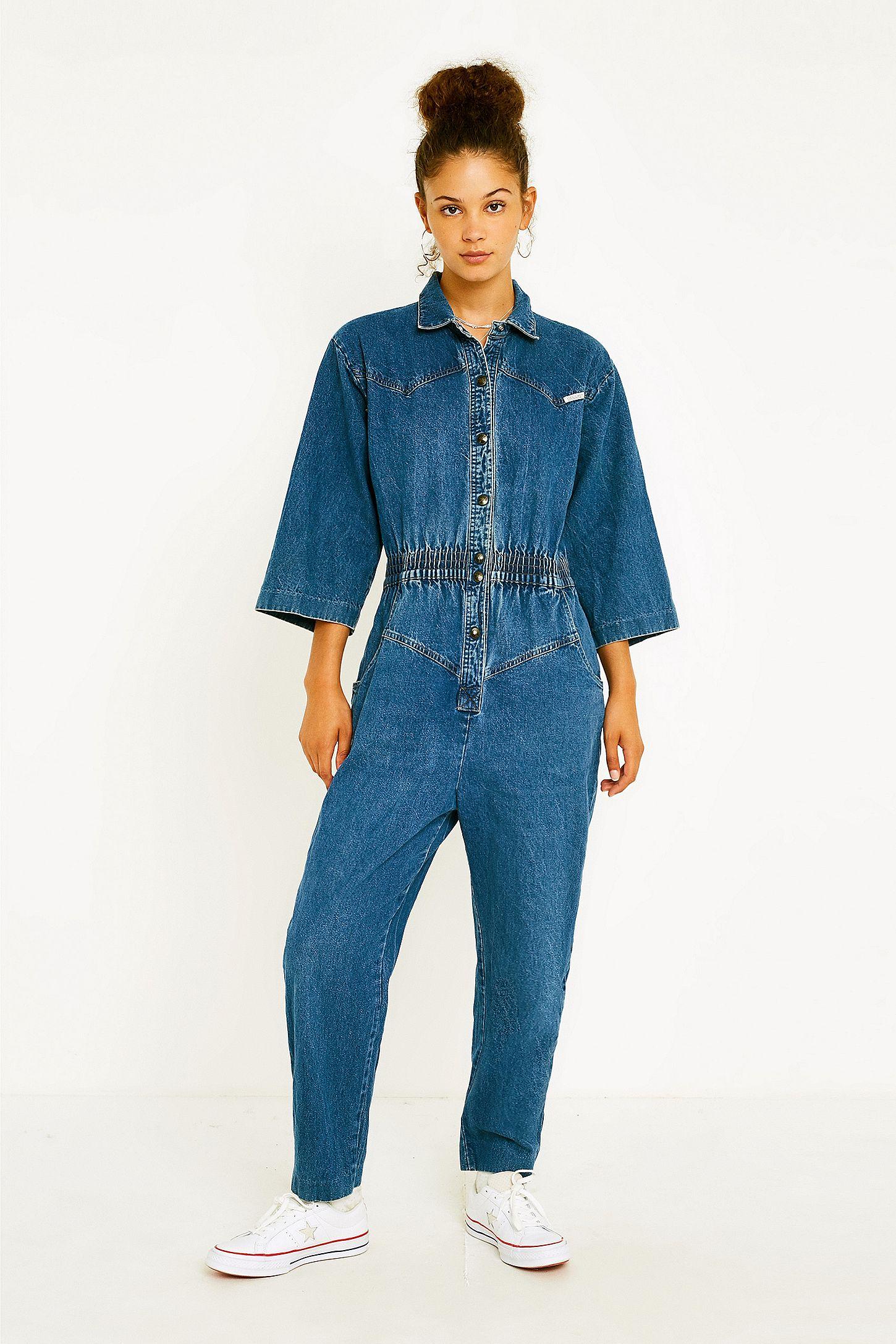 ca970ca3ca7 Urban Renewal Vintage One-of-a-Kind  80s Denim Jumpsuit