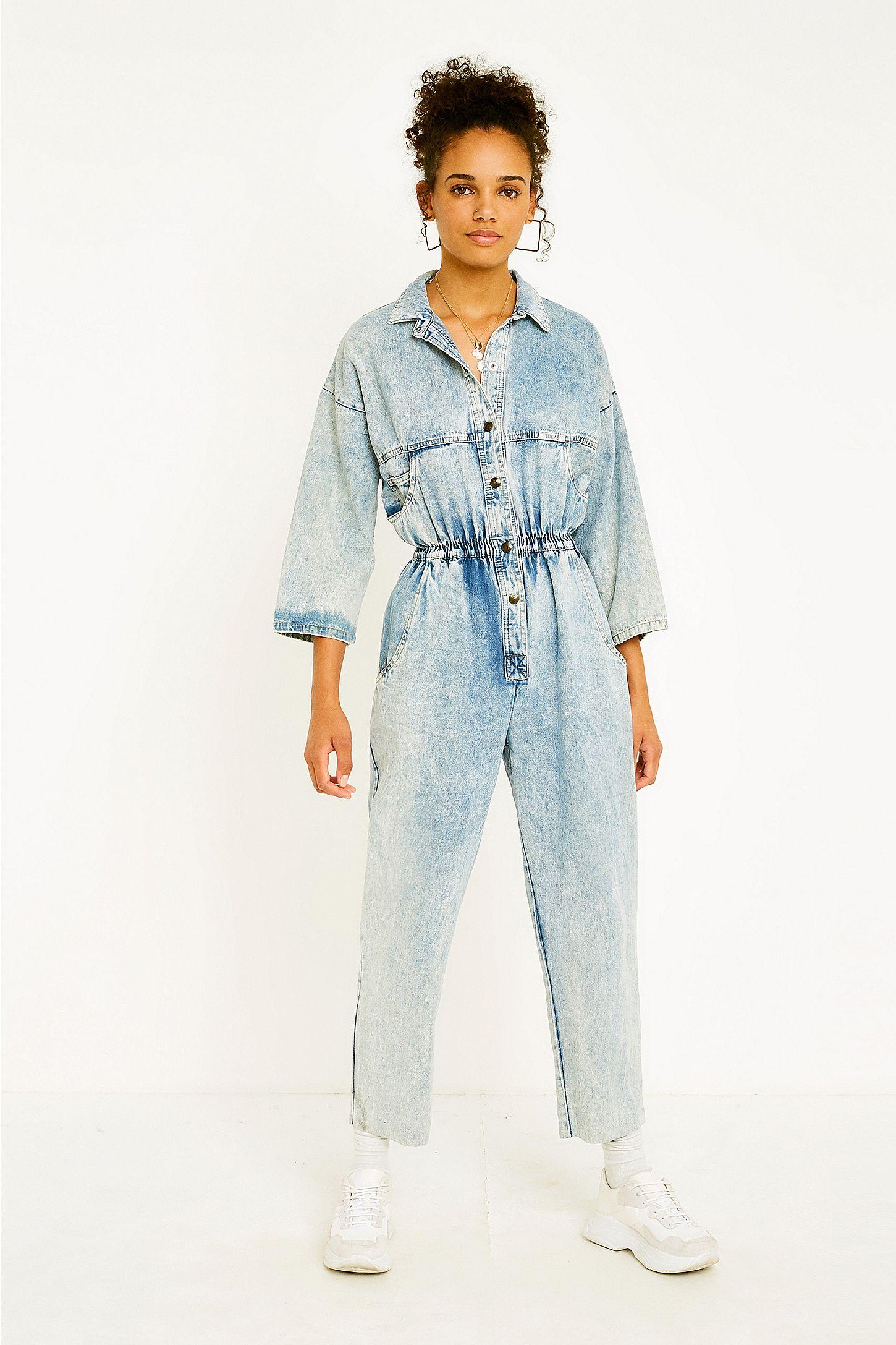 29edde804ee Urban Renewal Vintage One-of-a-Kind  80s Acid Wash Denim Jumpsuit ...