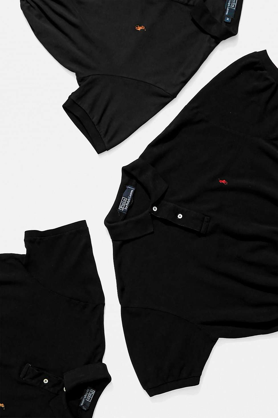 Urban Renewal Remade Branded Black Bungee Polo Shirt by Urban Renewal