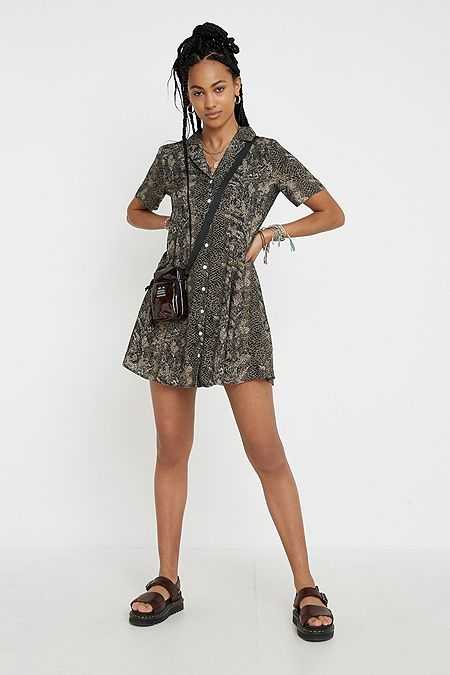 498bb92ecda Urban Renewal Remnants Snake Tea Dress
