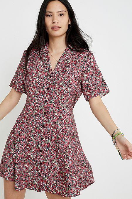 f9786ad11e Urban Renewal Remnants Floral Mini Tea Dress