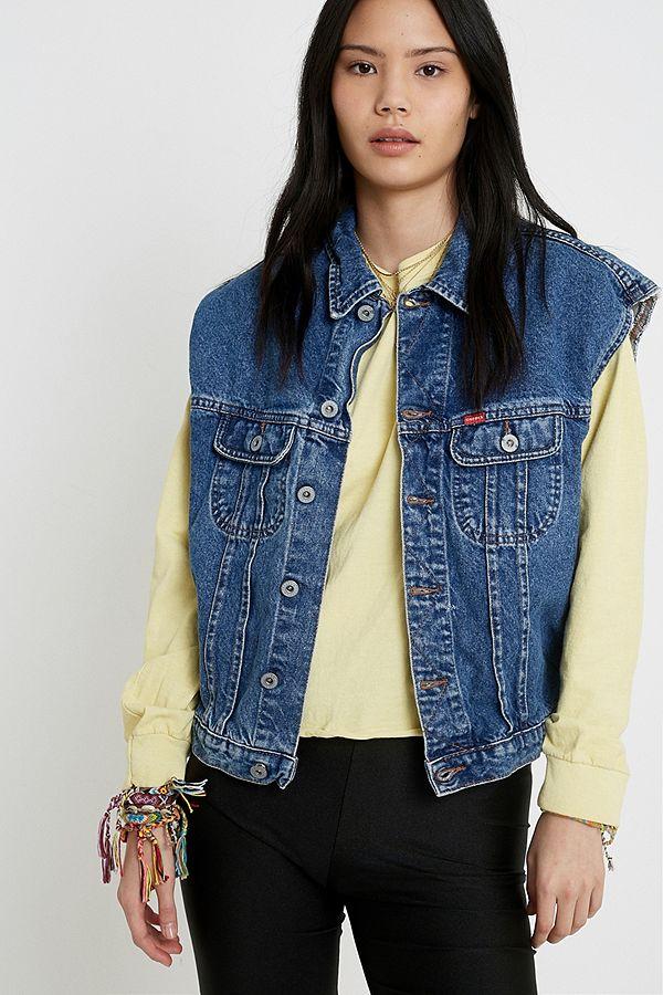 latest trends 2019 authentic wholesale sales Urban Renewal Vintage Sleeveless Denim Trucker Jacket