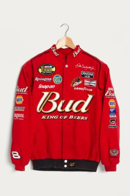 Urban Renewal Vintage One Of A Kind Budweiser Red Nascar Jacket Urban Outfitters Uk