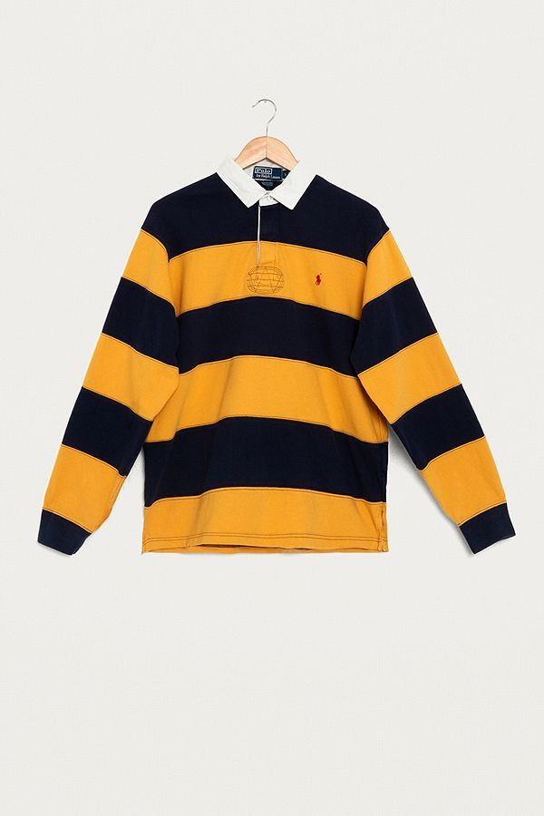 1287cbffd0b50 Urban Renewal Vintage One-of-a-Kind Ralph Lauren Yellow and Navy ...