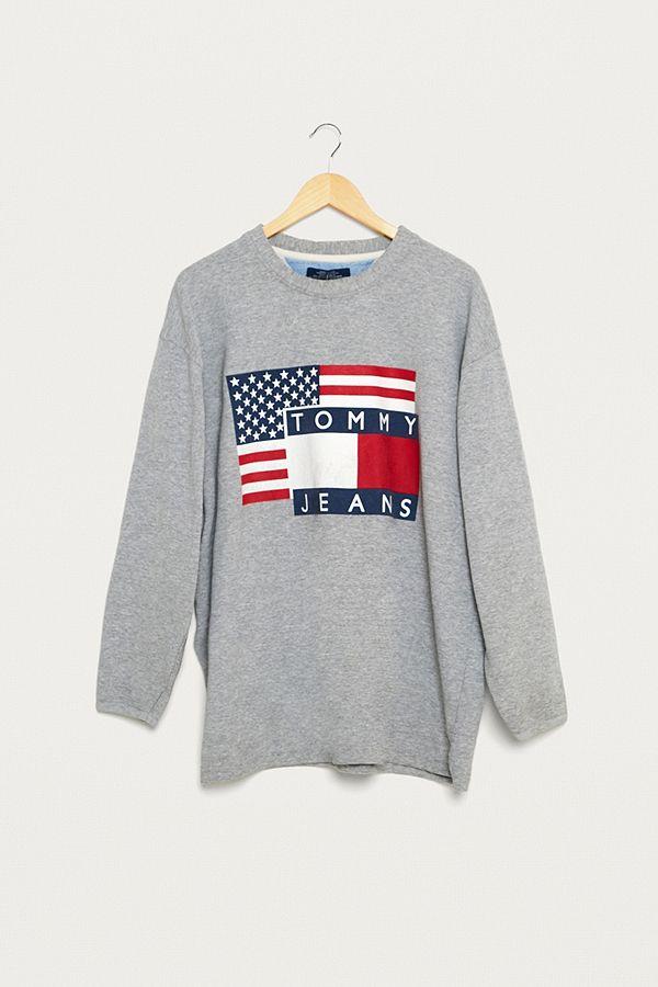 05d966051 Urban Renewal Vintage One-of-a-Kind Tommy Hilfiger USA Sweatshirt ...
