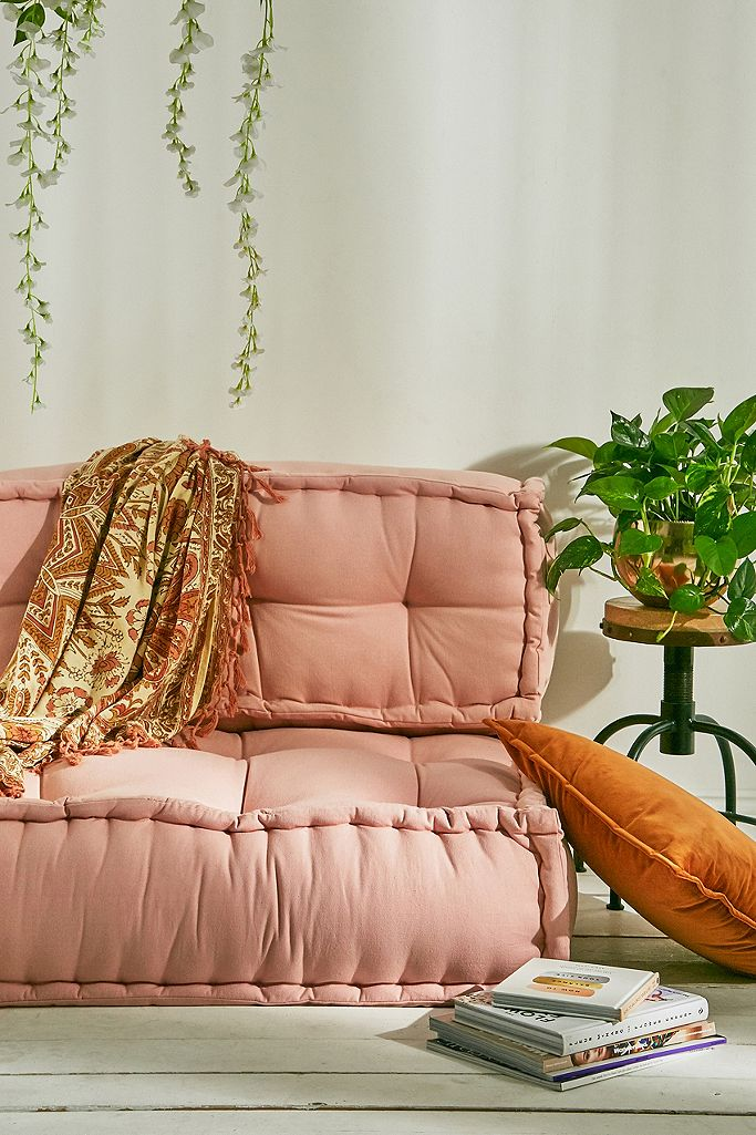 Reema Pink Back Cushion   Urban Outfitters UK