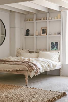 Modern Boho Platform Bed Frame Urban Outfitters Uk