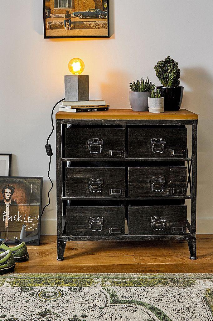 Small Black Storage Dresser